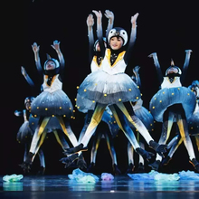 Детские костюмы с изображением маленького пингвина 61, танцевальные костюмы в форме животного, новые костюмы для выступлений с рисунком пингвина