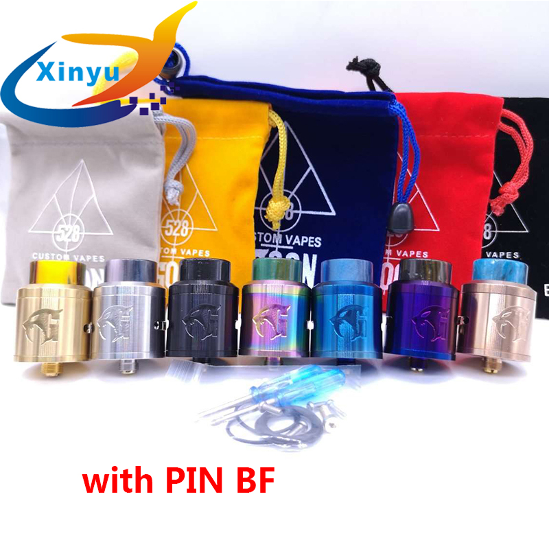Goon V1.5 RDA Atomizer 528 RDA E-Cigarette Atomizer Tank 24mm Rebuildable Drops Adjustable With Pin BF Vs Apocalypse GEN 25 RDA