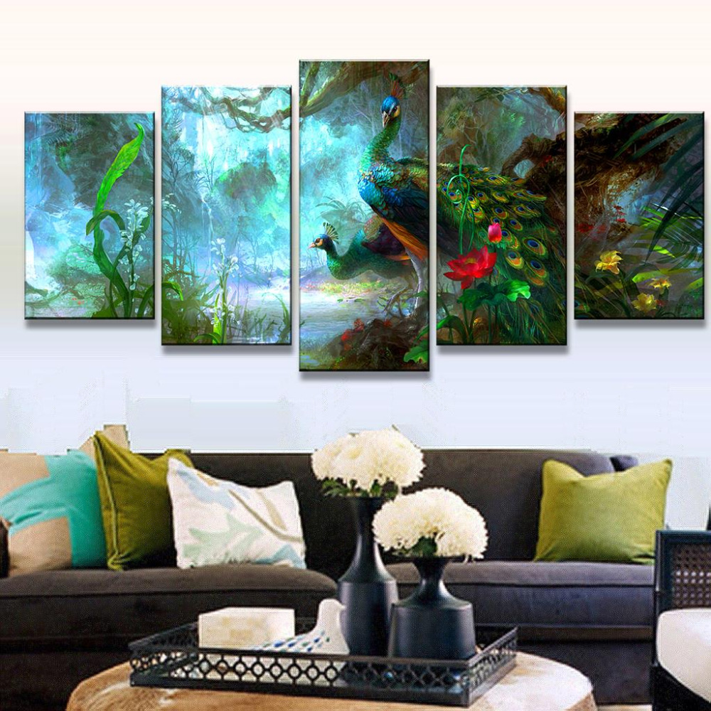 Peacock Colors Living Room Online Get Cheap Peacock Posters Aliexpresscom Alibaba Group