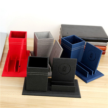 Multi function Qi wireless charger pen holder Desk Stationery Container Storage Box font b smartphone b