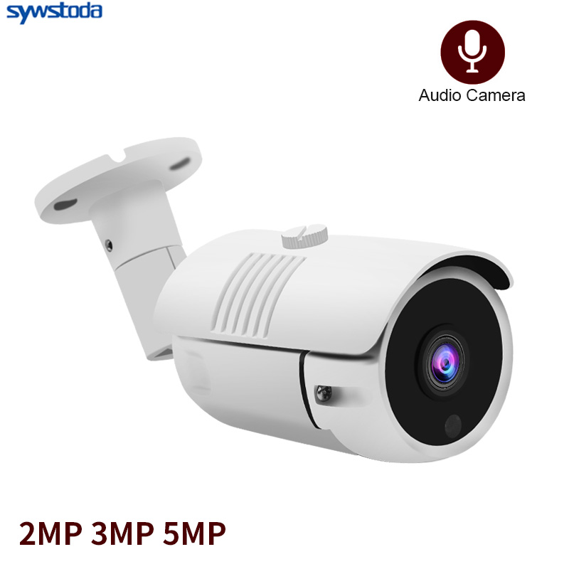 H.265 Security IP Camera Audio 48V POE 5MP Outdoor Waterproof IP66 CCTV Camera P2P Video Surveillance Home Security ONVIF