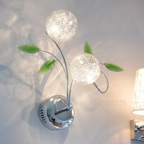 Mur LED lampe moderne bref vert cristal applique lampe de chevet applique double curseur couloir appliqueMur LED lampe moderne bref vert cristal applique lampe de chevet applique double curseur couloir applique