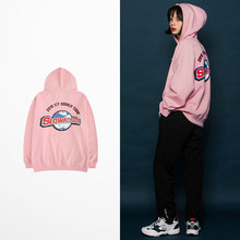 2018 Autumn Winter Warm Fleece Quality Hoodies Men And Women Pink Color Harajuku Chic Mens Hoodies And Sweatshirts Kanye BTS