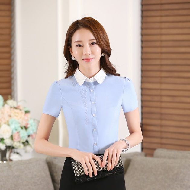 Compare Prices on Light Blue Blouse- Online Shopping/Buy Low Price ...