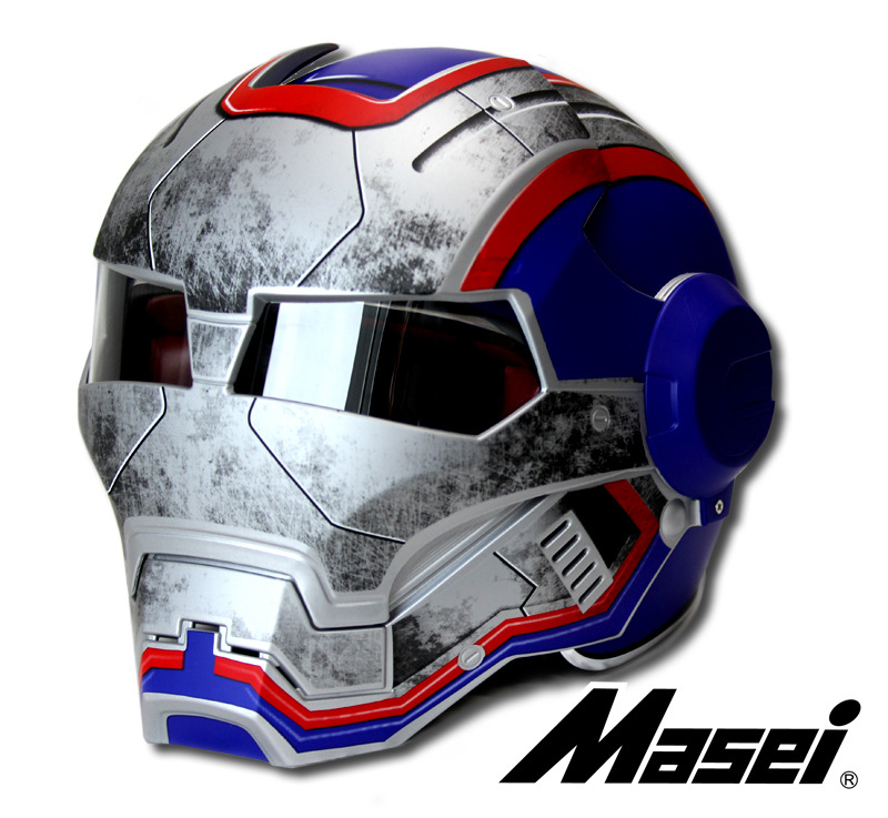 NOUS CAPITAINE MASEI 610 IRONMAN Iron Man atomique casque moto casques demi casque open face casque motocross DOT ECE M L XL XXL