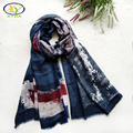 180*100cm 1PC 2016 Fall New England Style Soft Cotton Women Long Scarf Woman New Fashion Linen Viscose Big Shawls Pashminas