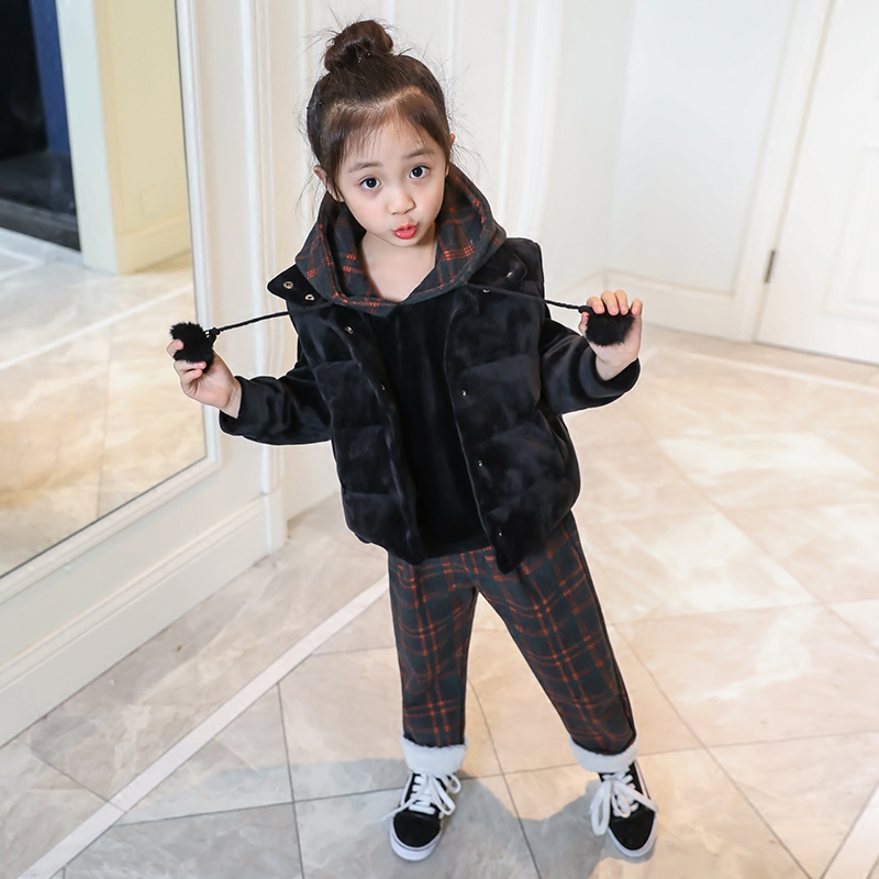 3-12Y Toddler Girls Clothes Set Kids Girl Clothing Sets Fleece Clothes Winter Children Sport Suit Kids Clothes Tracksuit D131 girls clothing sets 2018 winter girls clothes set t shirt pants 2 pcs kids clothes girl sport suit children clothes 6m 24m