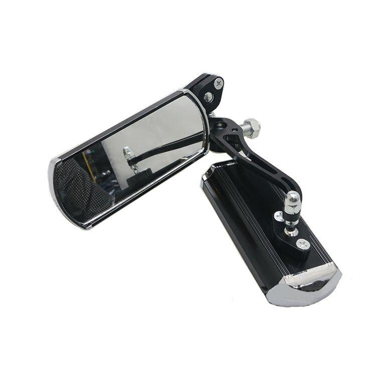 EDFY 2x Мотоцикл зеркала заднего вида Алюминий сплав горный велосипед MTB рулевого управления зеркала заднего вида Регулируемый, черный