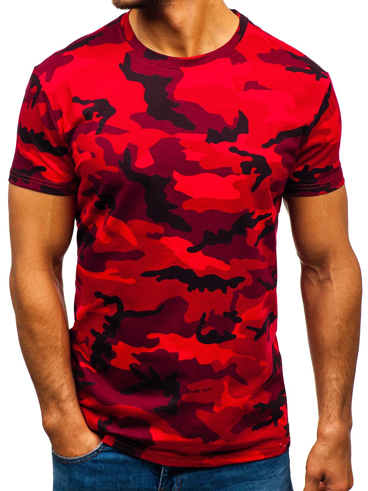 E baihui Новая летняя модная камуфляжная футболка для мужчин