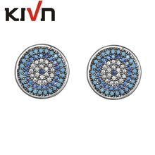KIVN Fashion Jewelry Turkish Blue eye CZ Cubic Zirconia Wedding Bridal Stud Earrings for Womens Girls Christmas Mothers Gifts