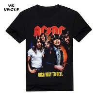 2016 nowe koszulki AC/DC zespół rockowy T Shirt męskie koszulki acdc wydruku na co dzień Tshirt O Neck Hip Hop z krótkim rękawem Plus rozmiar, YK wujek