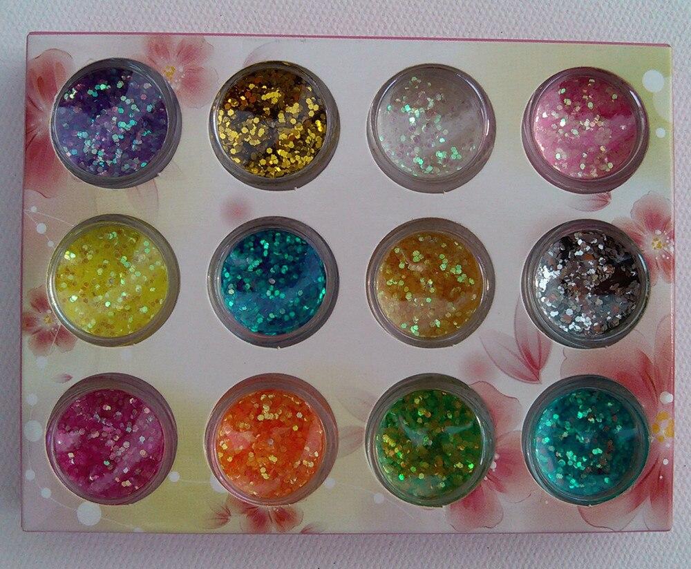 At Home Glitter Gel Manicure Rock N Roll