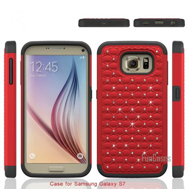 For Samsung Galaxy S7 G9300 Case 5.1inch New Colourful Gypsophila Stars Silicon+PC Diamond 2 In 1 Cover Cases