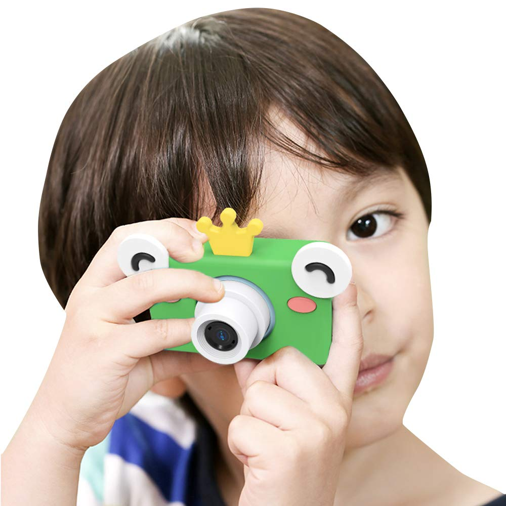 Image 2 - Digital Kids Camera Cute Cartoon Mini SLR Point Shoot Camera For Children Birthdays Gift CMOS 2inch Full HD Kids Boys Camcorders-in Point & Shoot Cameras from Consumer Electronics