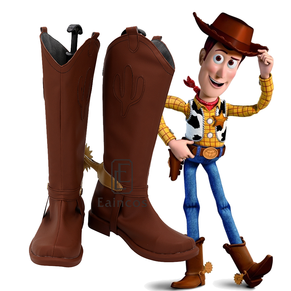 The Video Game Toy Story 3 Sheriff Woody Cosplay Shoes Halloween Carnival Boots Custom-made image