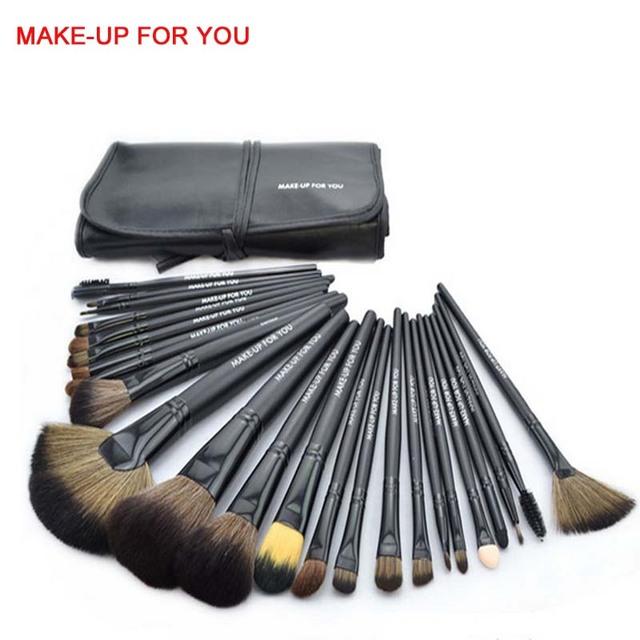 Calidad 24 UNIDS Pinceles de Maquillaje Set Herramientas de Cosméticos Componen Kit de Cepillo de Pelo Profesional Sombra de Ojos Fundación Pincel de Maquillaje Con la Bolsa