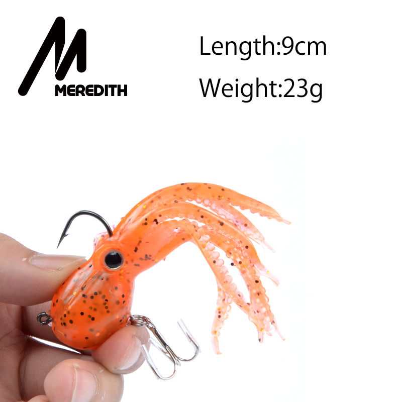 Meredith FISHING 23g 9cm long tail soft lead Pulpos de pesca Venta al - Pescando - foto 2