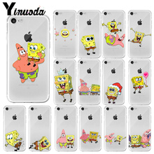 Yinuoda SpongeBob Colorful Cute Phone Accessories Case for Apple iPhone 8 7 6 6S Plus X XS MAX 5 5S SE XR Mobile Cover цены