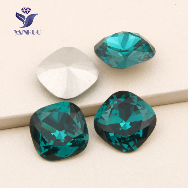 YANRUO 4470 Cushion Cut Blue Zircon Point Back Claw Rhinestones Stones And Crystal  Sew On Crystal Rhinestones For Clothes a160bd9f3918