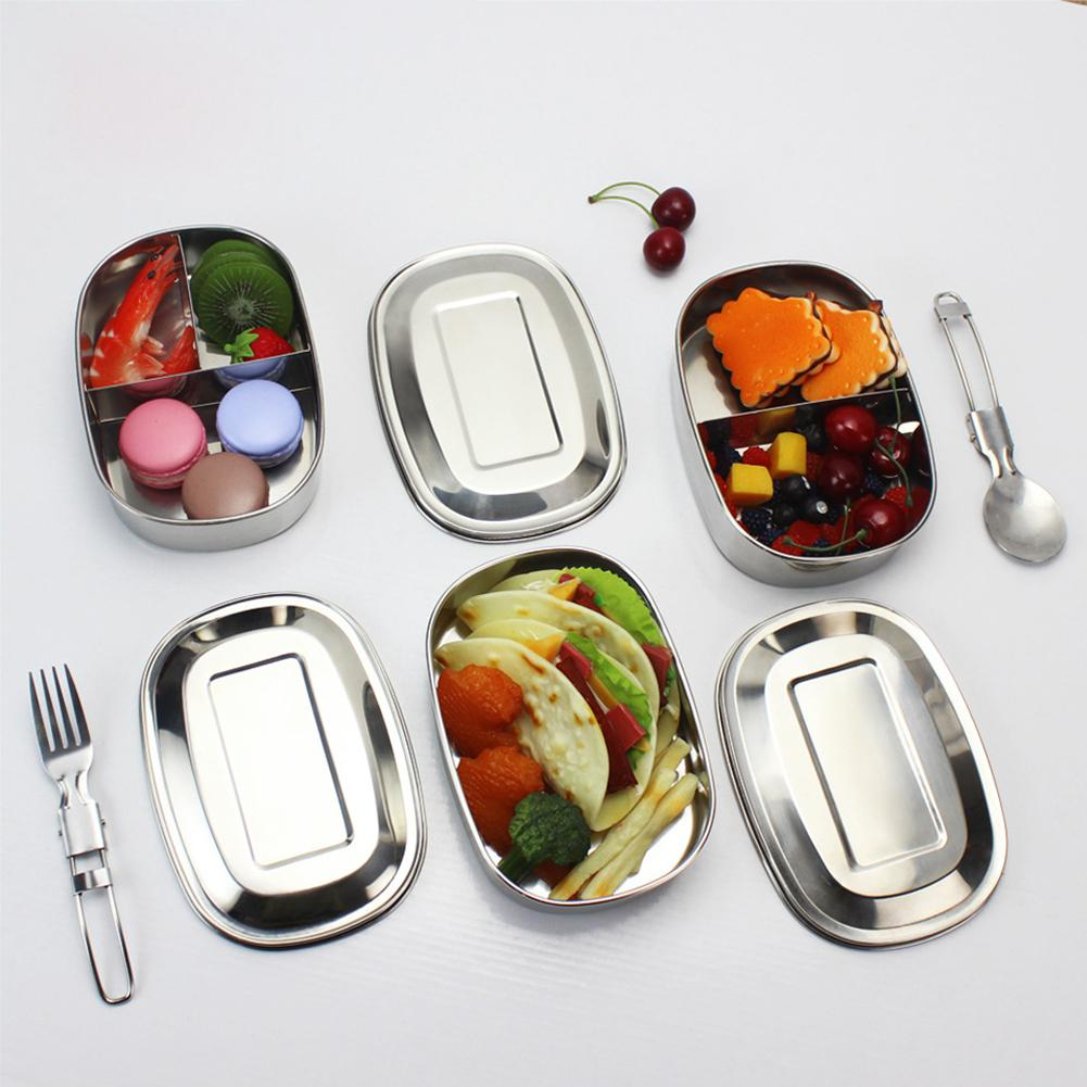 Lanlan Lunch-Box Square Leak-Proof-Food-Container 304-Stainless-Steel With Buckle