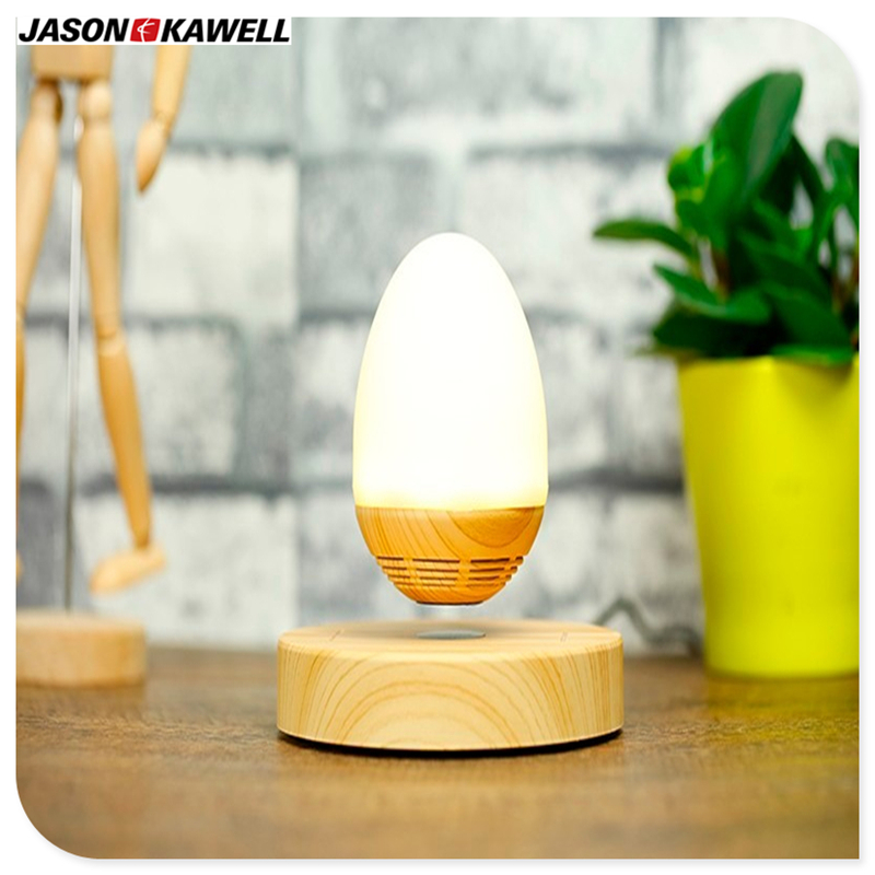 10 Pcs A Lot Magnetic Levitation Wireless Bluetooth Speakers Wood Base Floating Maglev Speaker With LED