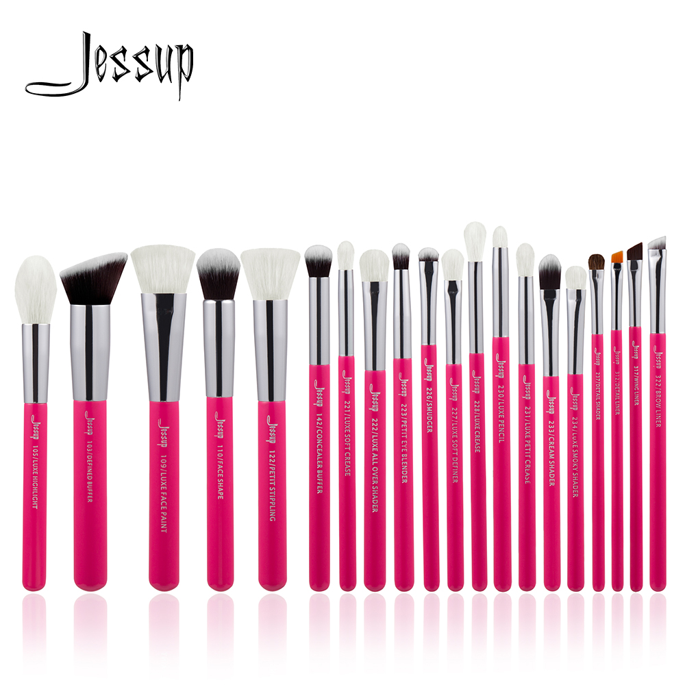 Jessup Rose-carmin / Silver Professional Makeup Brushes brush Set Beauty Tools Make up Brush Cosmetic beauty Foundation Powder new jessup brand 5pcs black silver professional makeup brushes set cosmetics tools beauty make up brush foundation blush powder