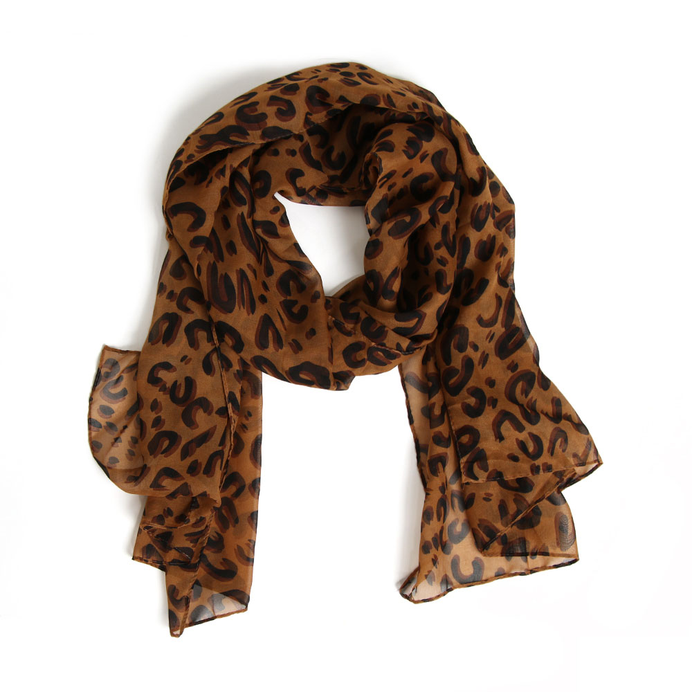 1PC Fashion Design Women Shawl Long Leopard   Scarf     Wrap   Lady Chiffon   Scarves   Pashmina Winter/Spring/Autumn Size 155*40CM