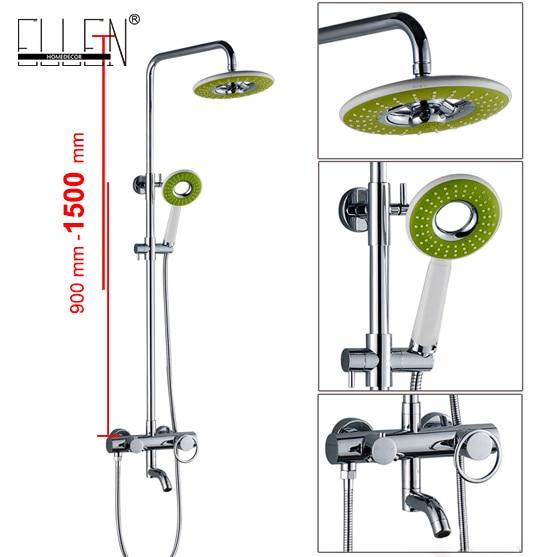 Bathroom Bath Shower Set Waterfall Rain Shower Head Wall Bath Faucets with Hand Shower Copper Chrome