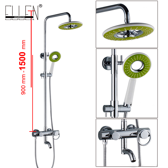 Bathroom Bath Shower Set Waterfall Rain Shower Head Wall Bath Faucets with Hand Shower Copper Chrome Finished