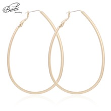 Badu Big Hollowing Geometric Hoop Earrings for Women Gold Silver Punk Earring Exaggerated Jewelry Gift Christmas Wholesale
