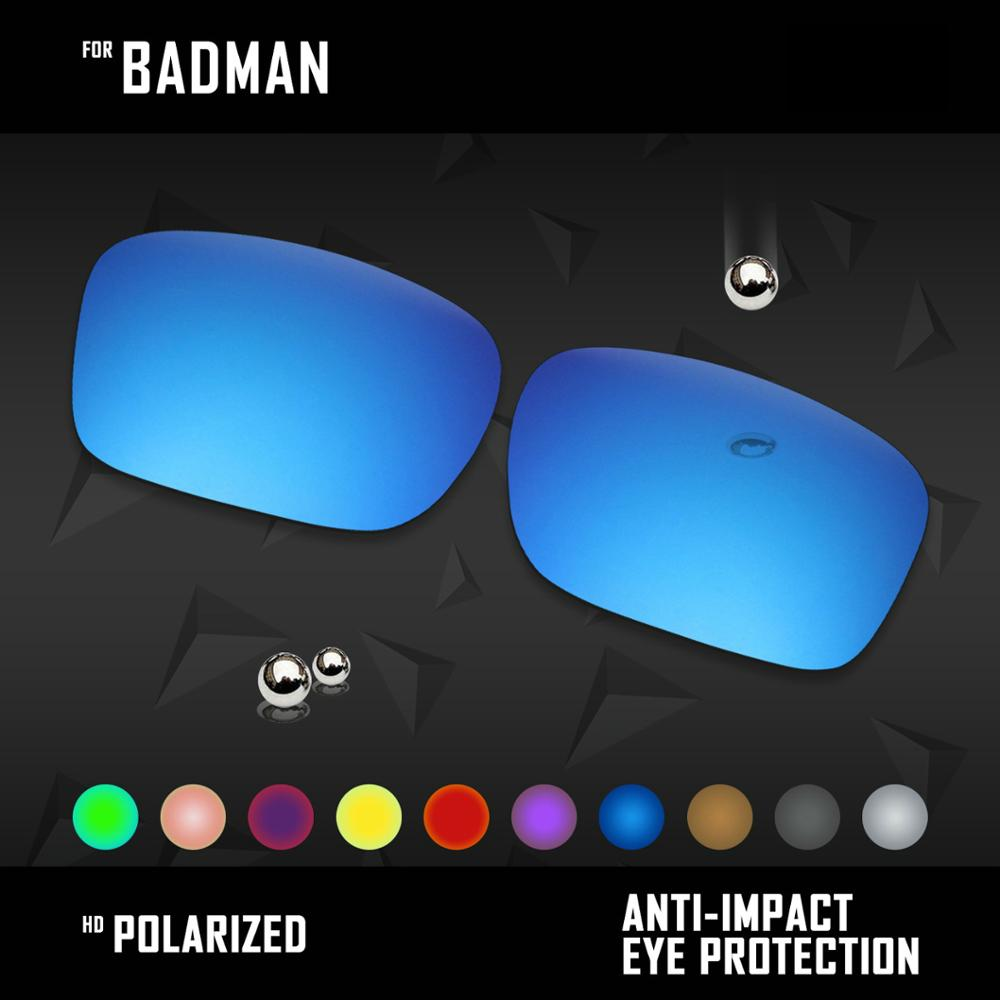 OOWLIT Lenses Replacements For Oakley Badman OO6020 Sunglasses Polarized - Multi Colors