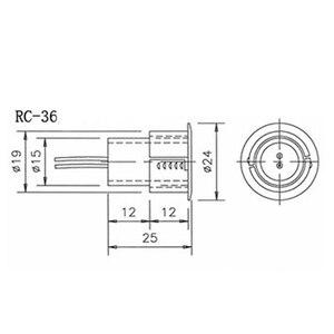 Image 4 - Brązowy kolor przewodowy przełącznik magnetyczny Alarm otwartych drzwi ukryte instalacji NC wyjście przekaźnikowe czujnik magnetyczny