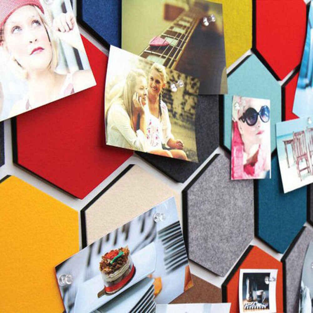 5 шт. креативная фетровая шестиугольная красочная наклейка на стены многоцветный Макарон Висячие наклейки для хранения декоративные листы Фреска домашний декор