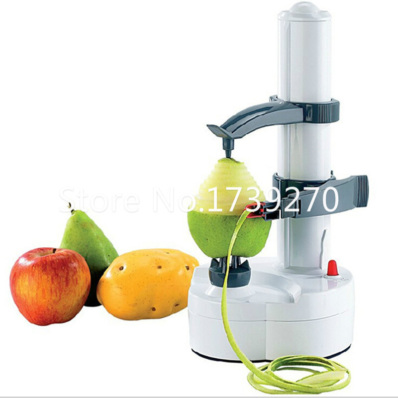 New Arrival Electric white stainless steel potato peeler fruit peeler Vegetable Peeler Potato Cutter With Spare Blades as gift multi function white radish style peeler