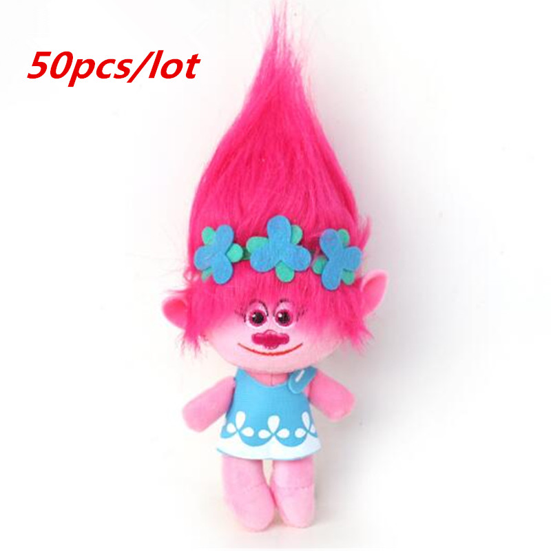 50pcs /lot DHL UPS Delivery Dreamworks Movie Trolls Toys Plush Trolls Poppy Trolls Figures Magic Fairy Hair Wizard Kids Toys 6pcs set movie trolls 4 3inch height figures toys cake topper kids birthday gift children funny toys