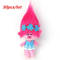 50pcs /lot DHL UPS Delivery Dreamworks Movie Trolls Toys Plush Trolls Poppy Trolls Figures Magic Fairy Hair Wizard Kids Toys