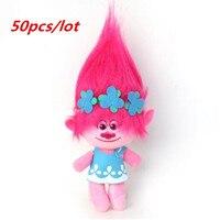 50pcs /lot DHL UPS Delivery Dreamworks Movie Trolls Toys Plush Trolls Poppy Trolls Figures Magic Fairy Hair Wizard Kids Toys