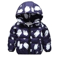 2017 Children's down jacket boys and girls, small children's clothing baby cartoon short paragraph autumn and winter coat