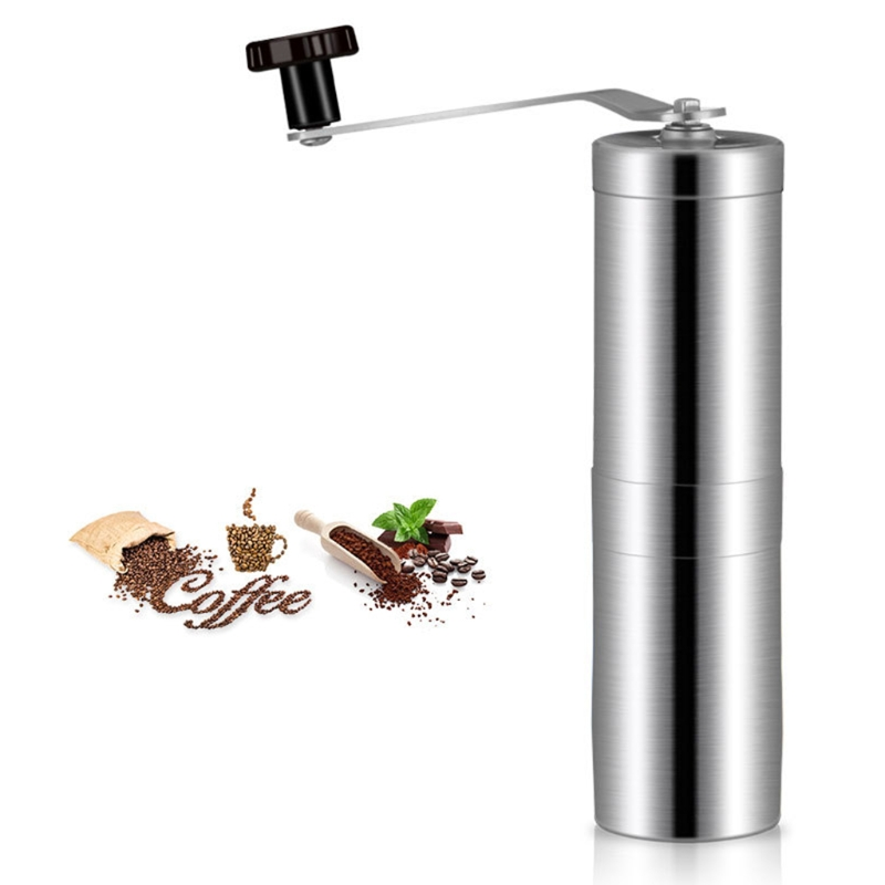 MEXI High Quality Stainless Steel Manual Coffee Bean Grinder Mill Hand Grinding Kitchen Tool high quality kitchen tool daily necessities stainless steel oil colander bowl
