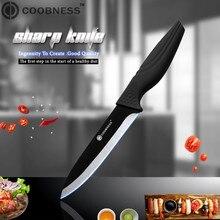 COOBNESS керамический нож 3 4 5 6 дюймов шеф-повар черная диоксидциркониевая керамика лезвие один нож 4 стиля черная ручка кухонный нож