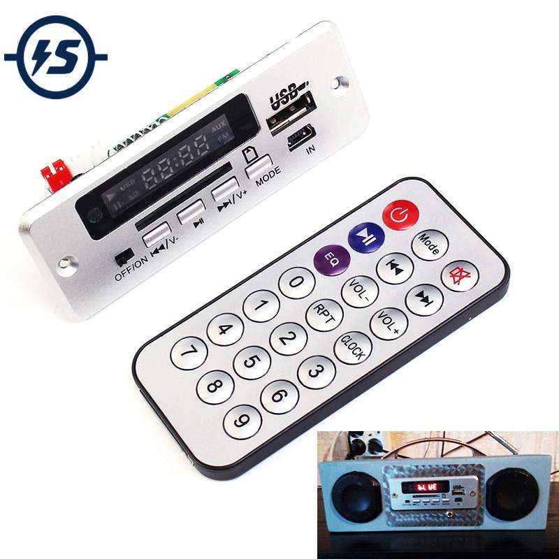 Mini 5 v MP3 Décodeur Conseil Bluetooth Appel Décodage Module MP3 WAV U-Disque et TF Carte USB Avec 2*3 w Amplificateur À Distance Contrôleur