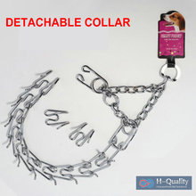 Stainless Steel Detachable And Adjustable L Size Dog Training Chain Prong Collar For Big Pets
