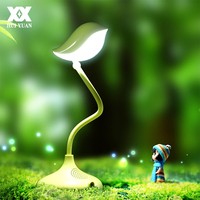 LED Creative Bird Shaped Table Lamp 360 Degree Adjustment Funny Gift Reading Desk Lamp Dimmable USB