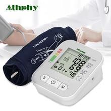 Athphy крови Давление монитор Full-автоматическая импульсная измерение пульса Тесты новый плечи измерения Sphygmomanometer тонометр