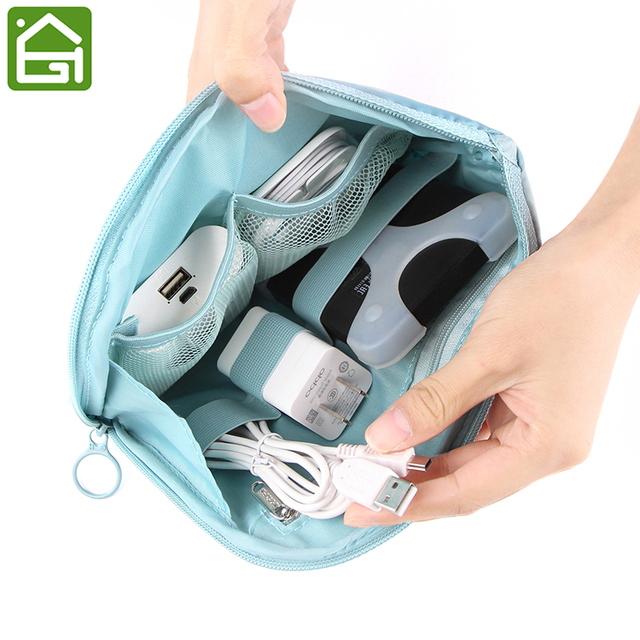 3cbf12686d29 Travel Waterproof Electronics Cable Organizer Bag for Hard Drives Cables  and Charger