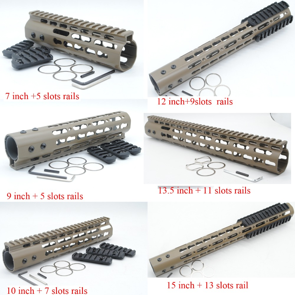 Tan Fde 7 9 10 12 135 15 Free Float Rail Mount Keymod