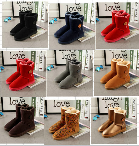 f308d17df9d4 2018 UBZ brand fashion style women snow boots cowhide leather Mid-Calf Boots  female warm wniter boots shoes ladies boots
