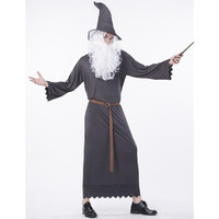 New Halloween Lord Of The Rings Gandalf Wizard Cosplay Costume Comic Party Cosplay Dress Mens Cosplay