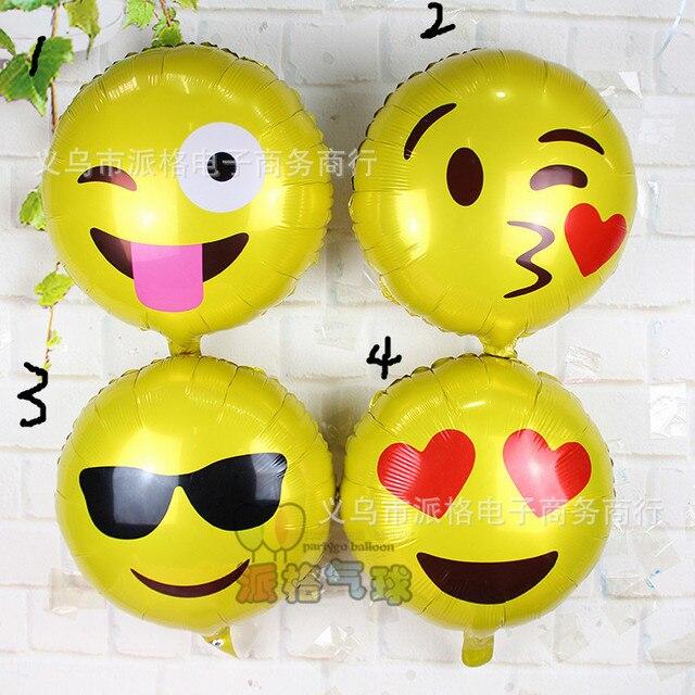 4 Teile Los 18 Ausdruck Luftballons Emoji Folie Ballon Geburtstag