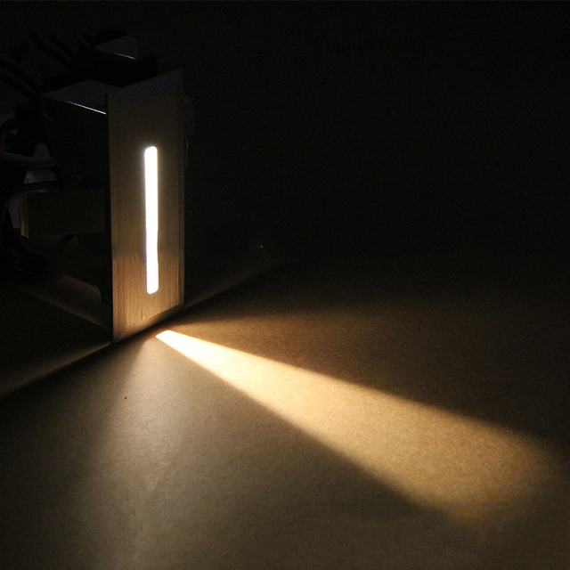 Indoor Recessed Led Stair Light Rectangle AC100 240V Indoor Led Wall Sconce  Lighting Stairs Step